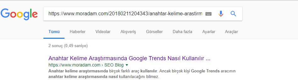 on page seo kontrol listesi