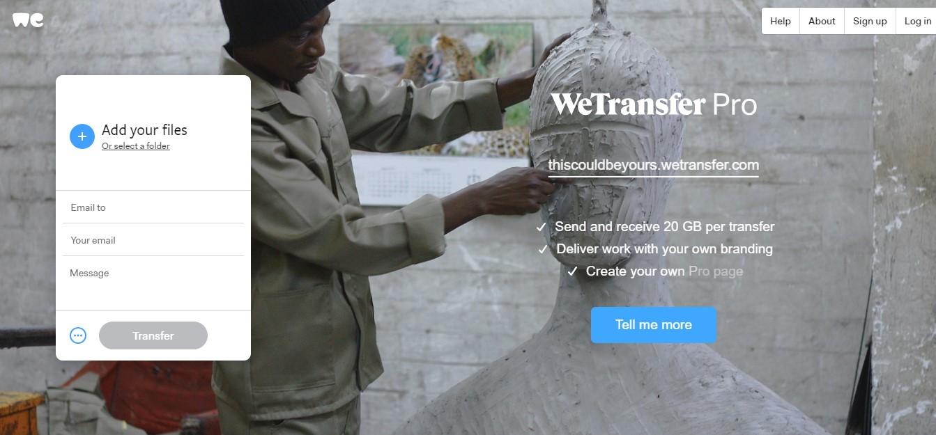 wetransfer dosya nasıl yüklenir