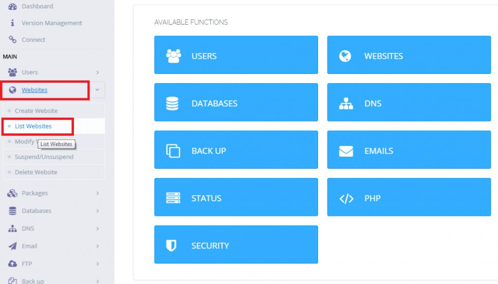 CyberPanel PHP Sürüm Değiştirme